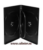DVD Case for 4 discs, 14 mm, black
