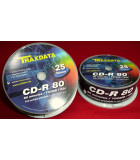 Traxdata CD-R 80 minutes  Full surface printable for color inkjet printers 25 Disc