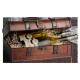 Ozdobná truhlica s koženými prackami na 2 fľaše YL23048F2A