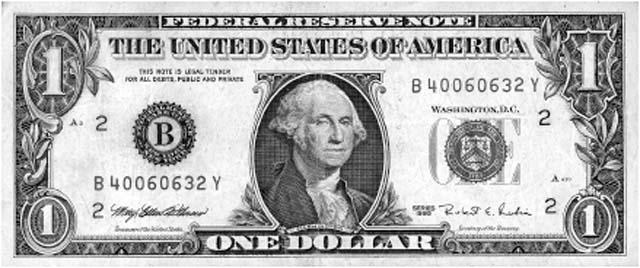 Čašnícka účtenka dolárovka - 14x6 cm IGAZ 003